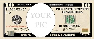 fake money template