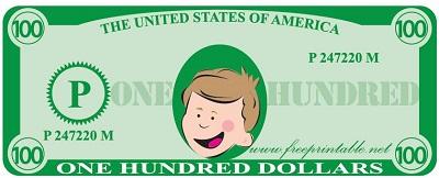 customizable money template