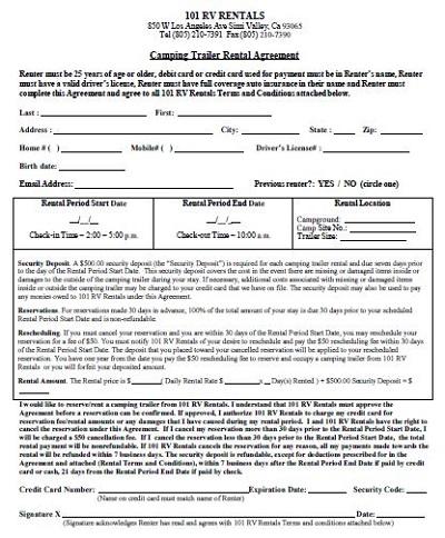 trailer rental agreements