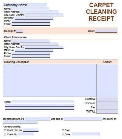 carpet cleaning forms