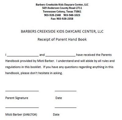 child care receipt pdf