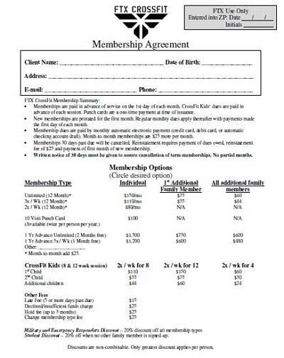 FTX Membership Agreement