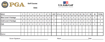 mini golf scorecard template