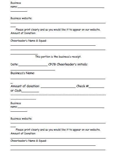 donation slips