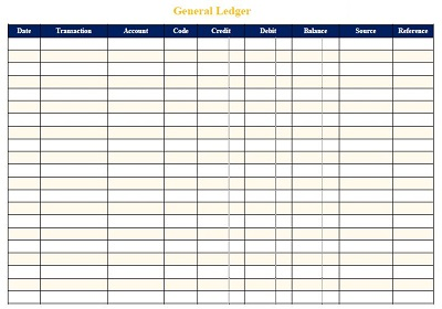 bookkeeping ledger template