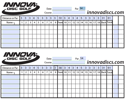 custom golf score card