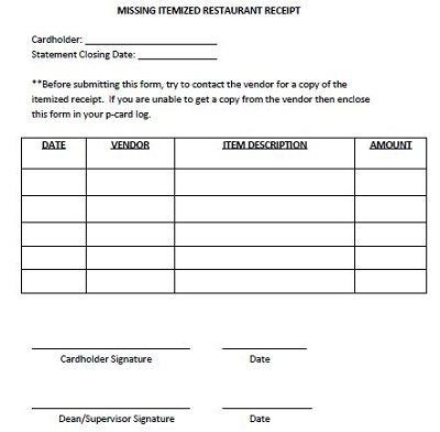 restaurant bills templates