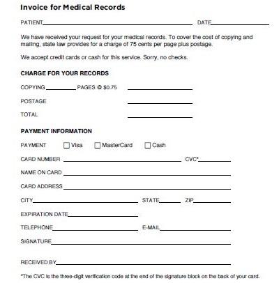 medical invoice generator
