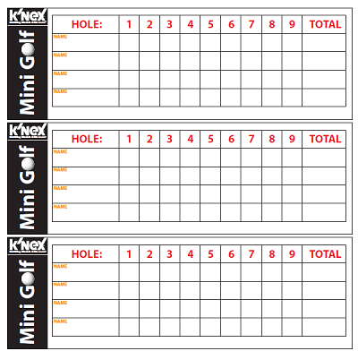 golf tournament scorecard template