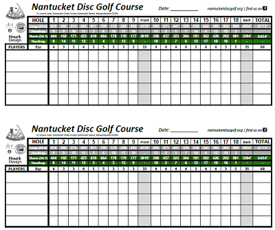 golf scorecards printable