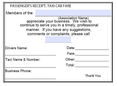 taxi receipt image