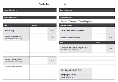 Payslip Booklet Template
