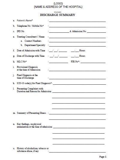 medical billing format