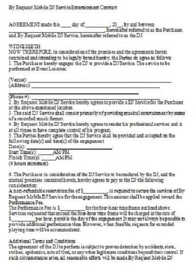 dj contract agreements