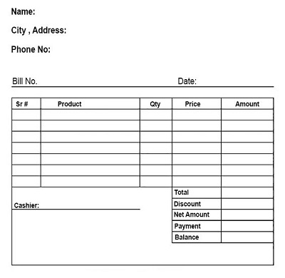 free restaurant receipt template