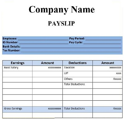 Salary Slip Example