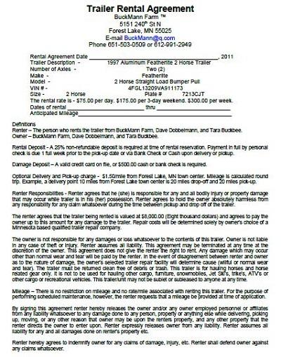 dump truck lease agreement