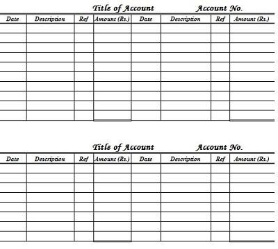financial ledger template