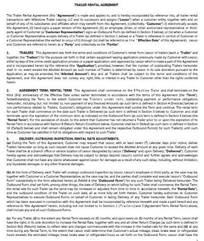 trailer interchange agreement sample