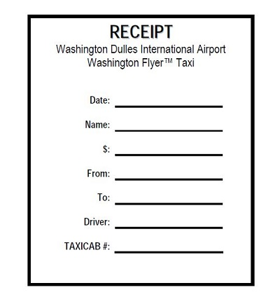 taxi receipt sample