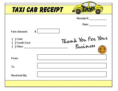 blank cab receipt
