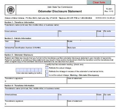 bill of sale form utah