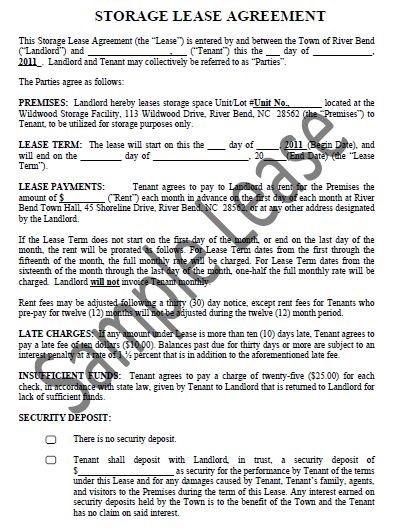 storage rental agreement pdf