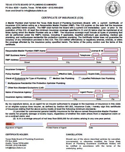 insurance certificate templates