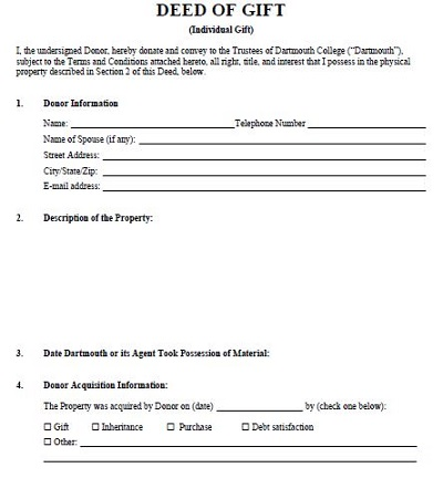 gift deed form