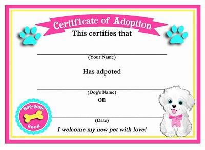 dog certificates
