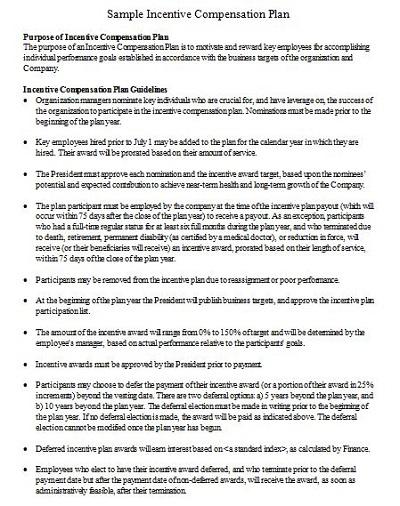 professional compensation plan template
