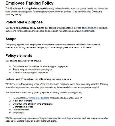 illegal parking notice
