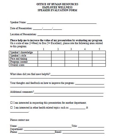 speaker evaluation survey