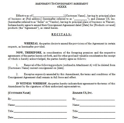 consignment shop contract
