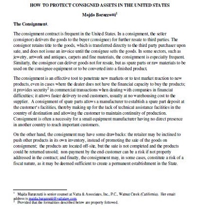 basic consignment agreement