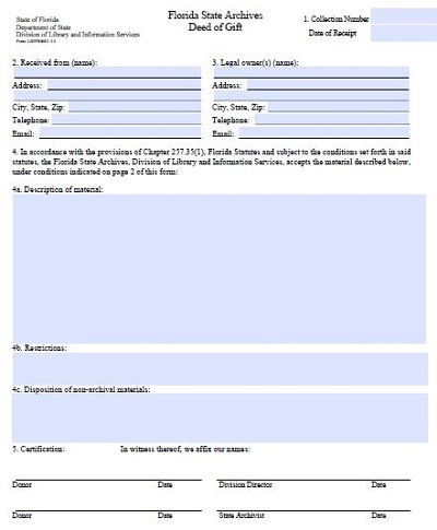 virginia deed of gift form