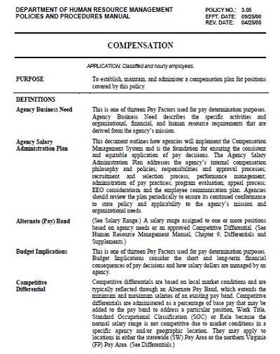 sample compensation plans