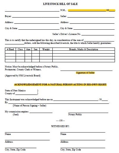 cattle purchase agreement