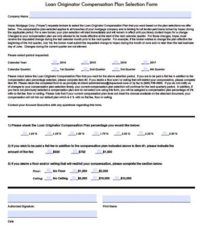 compensation plan example