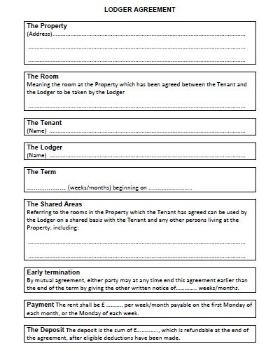 lodger agreement free download