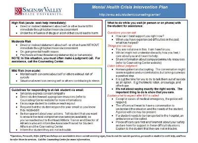 mental health crisis intervention plan