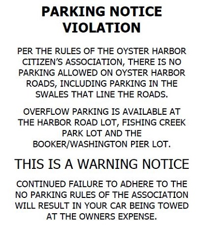 parking notice template