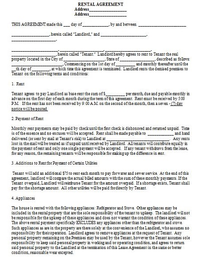 lodger contract