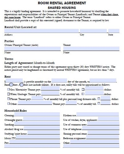 lodger contract template