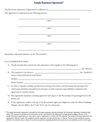lodger licence agreement