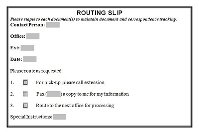 dental routing slip template