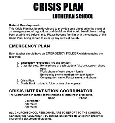 Church Emergency Action Plan Template from templaterepublic.com