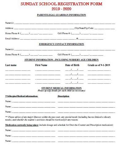 school application form template