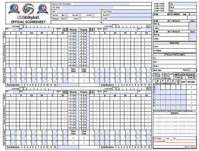volleyball score sheet printable