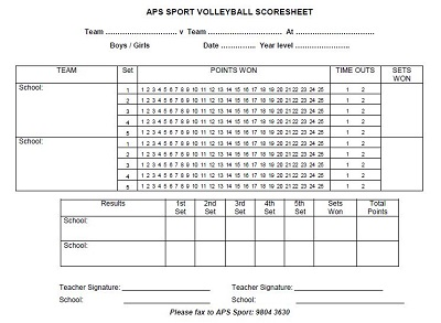 official volleyball score sheet